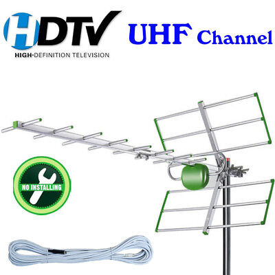 Outdoor Antenna Digital TV Antenna with Gain UHF Channel