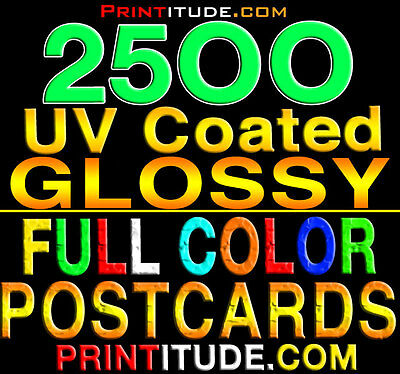 "2500 POSTCARDS 2"" x 4"" FULL COLOR - GLOSSY - 2 SIDED - 2X4 POSTCARDS FREE Design"