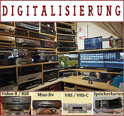 10 x Video8 / Hi8 / Digital8 / Kassetten auf DVD kopieren, digitalisieren
