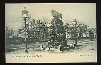 Scotland Dumfriesshire MOFFAT Colvin Fountain early PPC