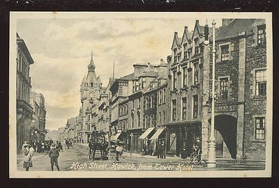 Scotland Roxburghshire HAWICK High St from Tower Hotel 1925 PPC