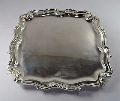 Large Square Sterling Silver Footed Tray - Heavy gauge - ( 55 oz) -NM