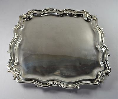 London England Sterling Silver Footed Tray - Heavy gauge - ( 55 oz) -NM