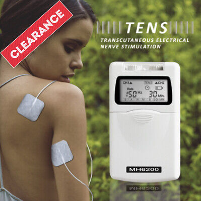 TENS Machine Massager Unit/ MH-8000 Combo TENS & EMS Machine+ Back Pain Tens Pad