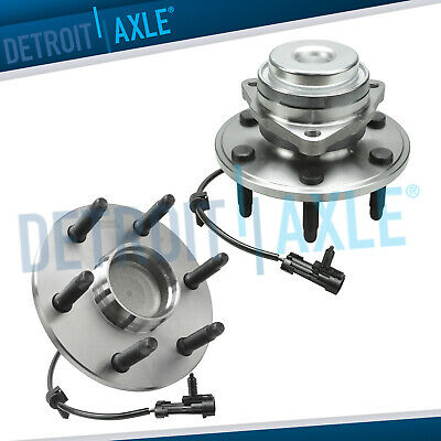 Set of (2) New Front Wheel Hub Bearing Assembly for GMC Chevy 2WD w/ABS 6 Lugs
