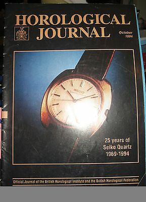 Horological Journal  October 1994 - Official Journal of the BHI and BHF