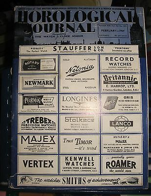 Horological Journal Incorporating The Watch+Clock Maker FEB 1959 Vol 101 No 1205
