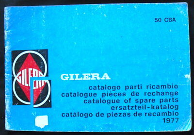 Gilera Illustrated Motorcycle Spare Parts Catalogue 1977 #171404/p.r