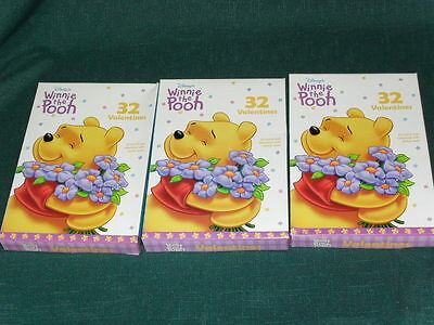 lot of 3 New Boxes of DISNEY WINNIE THE POOH St. Valentine's Day CARDS