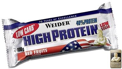 Weider 40% Protein Low Carb Bar 40 Riegel a 100 g (25,50 EUR pro 1000 g)