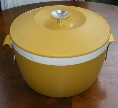 Vintage Royal Satin Ther-o-ware Harvest Gold Ice Bucket