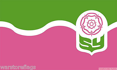 SOUTH YORKSHIRE FLAG 5X3 Doncaster Rotherham Barnsley Sheffield flags ENGLAND