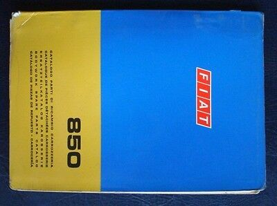 FIAT 850 BODYWORK SPARE PARTS CATALOGUE SEPTEMBER 1970 4th EDITION ref603.10.253