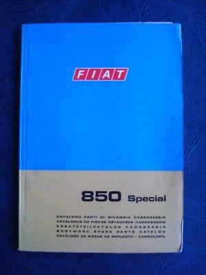 FIAT 850 SPECIAL BODYWORK SPARE PARTS CATALOGUE 1st EDITION FEBRUARY 1968