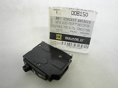 New In Box Square D Qob150 Circuit Breaker 1 Pole 50 Amp Qob Type