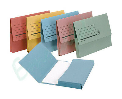 12 x A4 Document Wallets Assorted Colours Same Day Dispatch