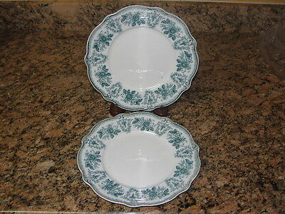 "2 Antique Grindley Green Brussels 9"" Luncheon Plate"