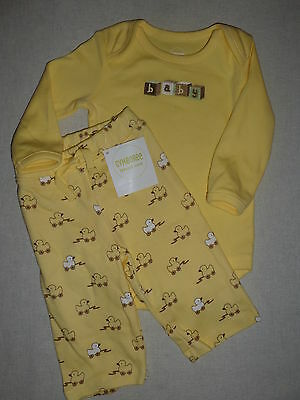 Gymboree BRAND NEW BABY Unisex Yellow Bodysuit Top OR Duck Print Pant NWT 0 3 6