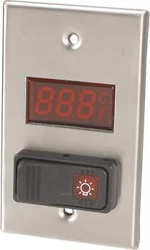 Digital Thermometer w/Light Switch Walk-in wall mount -40° to 230° F 138-1207