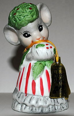 1980 Jasco Christmas Critter Bells MOUSE w/ tag