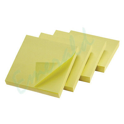 """400 Remove It Sticky Post Notes 76mm x 76mm 3"""" x 3"""" (4 packs of 100)"""