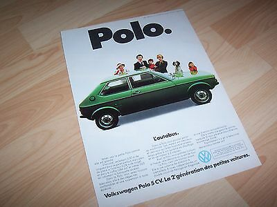 VOLKSWAGEN Polo 1977 Publicité magazine / Original French Advertising //