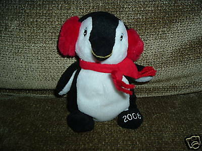 "Sears Exclusive Christmas Charity Beanbag 2006 Plush Penguin "" PENNY """