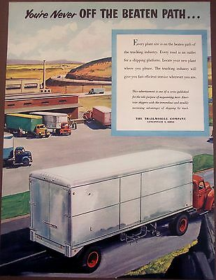 1950 Trailmobile Company trucking industry vintage ad
