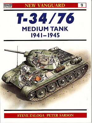 Russian T-34 / 76 Medium Tank 1941-1945 - Osprey New Vanguard Book No. 9