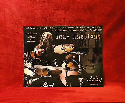 Slipknot *Joey Jordison* Remo Drumheads Promo Poster