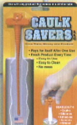 Caulk Saver, 6 Pack, Cap and Preserver,  No Messy Leakage Or Clean Up