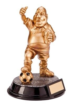 Football Trophies Resin Gold Football Beer Belly Trophies Novelty Award ENGRAVED