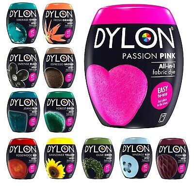 Brand New Dylon Machine Fabric Dye Cloth Wash 200g In 24 Coloures Machine Dye