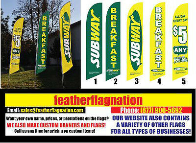 NEW SUBWAY PROMOTIONAL PACK Feather Banner FLAG SETS with HARDWARE