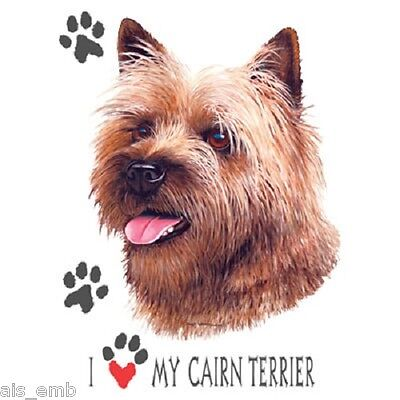 Love My Cairn Terrier Dog HEAT PRESS TRANSFER for T Shirt Tote Sweatshirt #825a