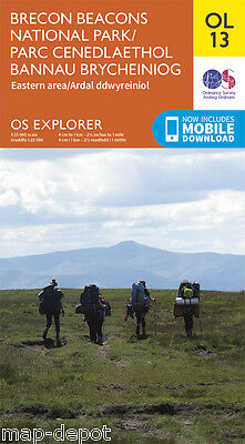 BRECON BEACONS (Eastern Area) EXPLORER Map - OL13 - OS - Ordnance - inc.DOWNLOAD