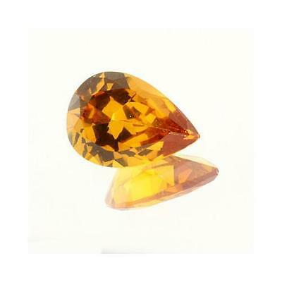 10x7mm Lab Created Yellow Sapphire Pear