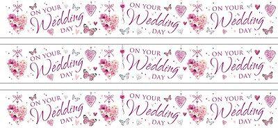 On Your Wedding Day White Foil Banners (Se)
