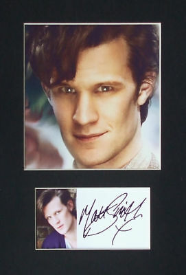 Matt Smith Signed Mounted Photo Display, Dr Who