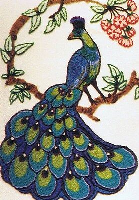 Webster Craft Punch Needle Embroidery Peacock Large A3 kit