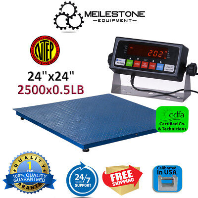 New NTEP 2500lb/0.5lb 2'x2' Heavy Duty Floor Scale w/ PS-IN202 Indicator