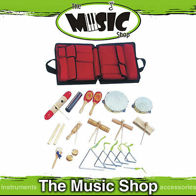 BROKEN ZIP - DXP 17 Piece Percussion Pack, Tambourine, Maracas, Shakers Triangle