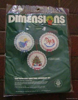 Vtg 1983 DIMENSIONS Counted Cross Stitch  Lace Christmas Ornament Kit NEW