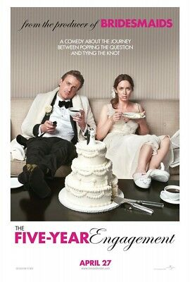 THE FIVE YEAR ENGAGEMENT MOVIE POSTER 2 Sided ORIGINAL 27x40 EMILY BLUNT