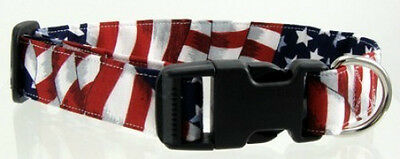 Stars and Stripes Quick Release Buckle Pet Dog and Cat Collars