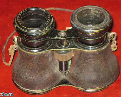 Antique Marchand Pairs Binoculars All Origianl with Leather Case 1900's