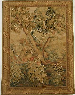 """61""""x91"""" Hand Woven AUBUSSON TAPESTRY-Cascading River in Timberland"""