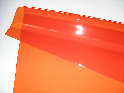 "Full Sheet 48"" X 21"" 105 Orange Lighting Filter Gel Theatre Tv Dj Club Disco"