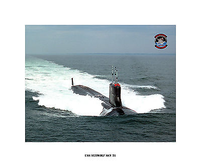 USS Scamp SSN 588 -Nuclear Attack Submarine USN Navy Photo Print