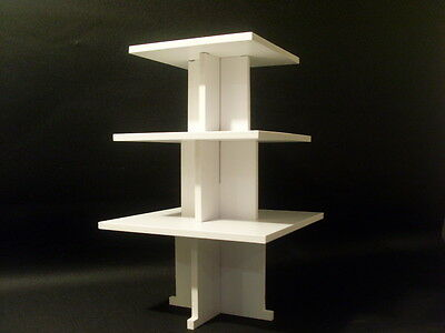 wedding birthday party cupcake cup cake stand 3 tier square strong CHUNKY 8MM